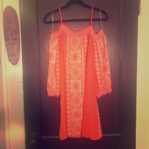 Cold shoulder dress with sleeves